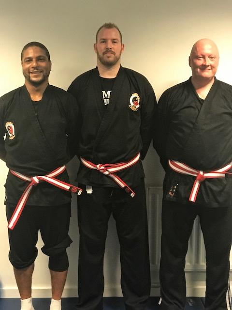 ongratulations to Ruben, Nick and Mike on passing their first Combat Jujitsu grading
